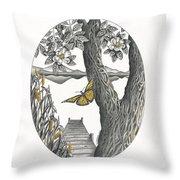 Shades Of Magnolia Throw Pillow