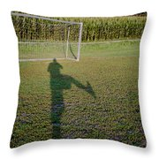 Shadow From A Football Player Throw Pillow