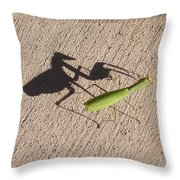 Shadow Mantis Throw Pillow