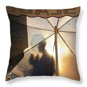 Shadow Of A Man Throw Pillow