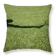 Shadow Playing Tennis Throw Pillow