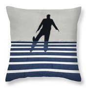 Shadow Walking The Stairs Throw Pillow
