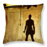 Shadow Wall Statue Throw Pillow