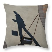 Shadowing Me Throw Pillow