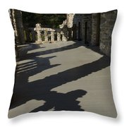 Shadows Cast On The Porch Of Gillette Throw Pillow