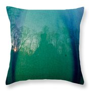 Shadows In The Eye Of The Sunset Throw Pillow