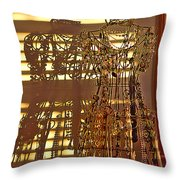 Shadows Of Glamour Throw Pillow