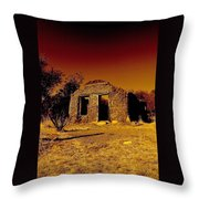 Shadows Of The Old West Throw Pillow