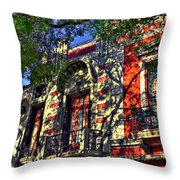 Shadows On The Wall Throw Pillow