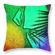 Shadows On The Wall Throw Pillow by Gwyn Newcombe