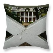 Shadows X On The Teche  Throw Pillow