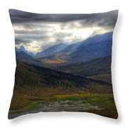 Shaft Of Sunlight Hitting The North Throw Pillow