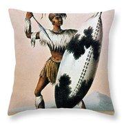 Shaka Zulu (c1787-1828) Throw Pillow