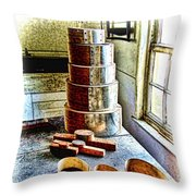 Shaker Box Making Vignette  Throw Pillow