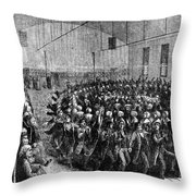 Shakers Dancing Throw Pillow by Photo Researchers