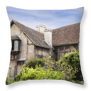 Shakespeare's Birthplace. Throw Pillow
