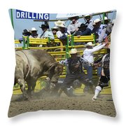 Rodeo Shaking It Up Throw Pillow