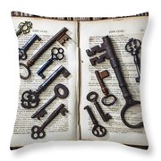 Shakspeare King Lear And Old Keys Throw Pillow