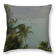 Shallow Waters At The North Shore Throw Pillow