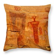 Shamans Of The Rock Throw Pillow