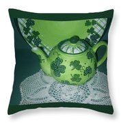 Shamrock Tea Throw Pillow