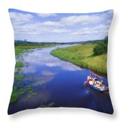 Shannon-erne Waterway Throw Pillow