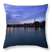 Shannon River Estuary At Limerick Throw Pillow