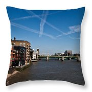 Shard And River Thames Throw Pillow