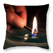 Sharing The Flame Throw Pillow