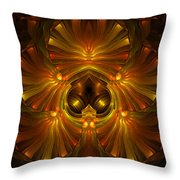 Shattered Five Leaf Clover Abstract Throw Pillow