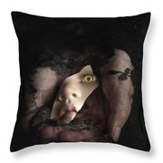 Shattered Into Pieces Throw Pillow