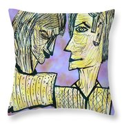 She And He Pen And Ink 2000 Digital Throw Pillow