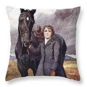 She Chose Me For Her Horse Throw Pillow