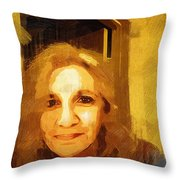 She Smiles Sweetly Throw Pillow