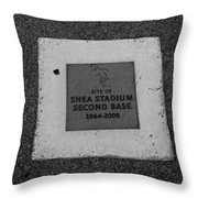 Shea Stadium Second Base Throw Pillow by Rob Hans
