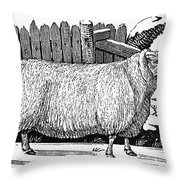 Sheep, 1788 Throw Pillow