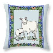 Sheep Artist Sheep Art Throw Pillow