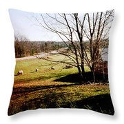 Sheep Farm Throw Pillow