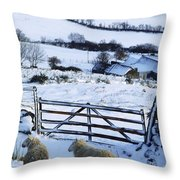 Sheep, Ireland Sheep And A Farm During Throw Pillow