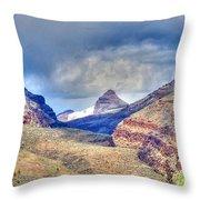 Sheep Rock Mountain Throw Pillow