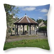 Sheepwash Well - Ashford-in-the-water Throw Pillow