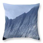 Sheer Mountain Face Throw Pillow