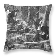 Sheffield: Factory, 1865 Throw Pillow