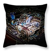 Shelby G.t. 500 Engine Throw Pillow