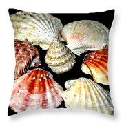 Shell Flower Throw Pillow