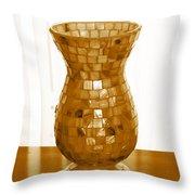 Shell Vase Throw Pillow