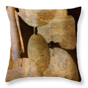 Shell Wind Chimes Throw Pillow