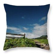 Shelter Cove Lighthouse Throw Pillow