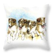 Sheltie Pups Throw Pillow