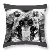 Shepard And Apollo 14 Throw Pillow